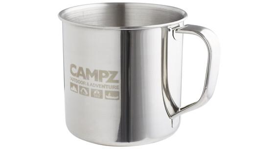 CAMPZ roestvrij stalen beker beker 0,5 liter grijs
